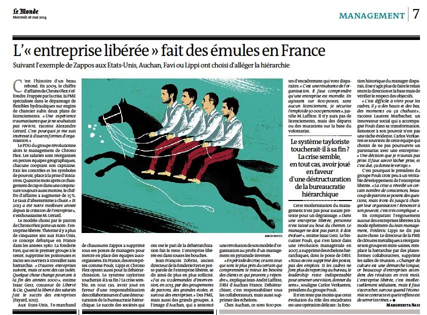 L'«entreprise libérée» fait des émules en France