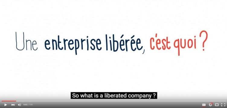 Le dessin animé «Entreprise libérée» avec les sous-titres en anglais