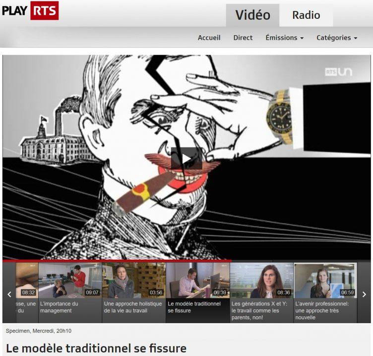 Radio Télévision Suisse parle du travail et de l'entreprise libérée