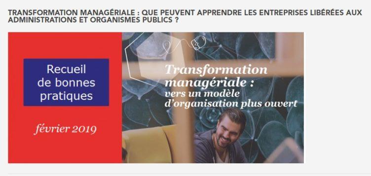 Rapport gouvernemental «Transformation managériale: Que peuvent apprendre les entreprise libérées aux administrations et organismes publics»